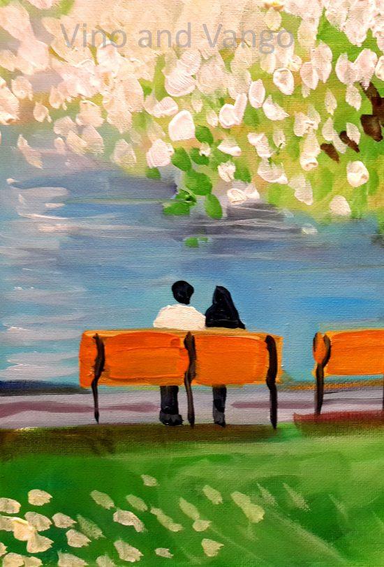 park bench half 1