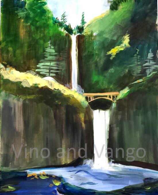 Multnomah Falls watermark