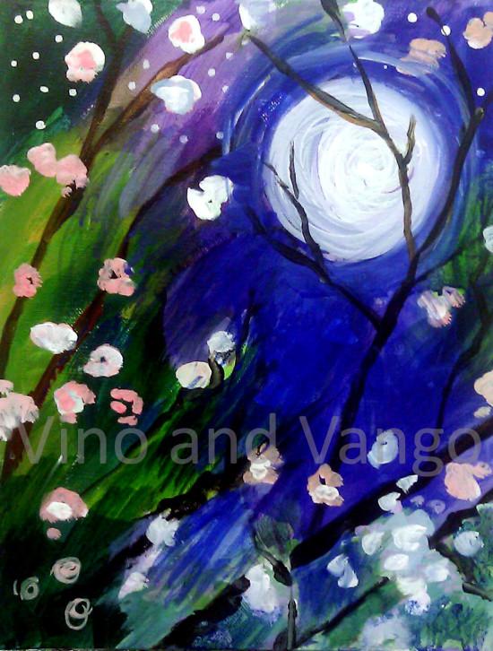 night blossoms watermark