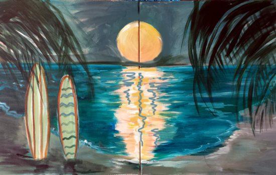 Moonlight Surfing I
