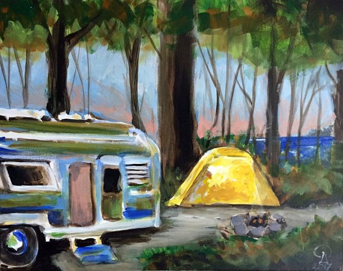 Yellow Tent w Airstream I & Yellow Tent w Airstream I - Vino and Vango