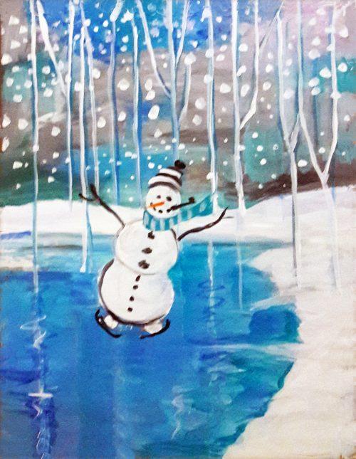 Snowman-Blue Birch Pond_vibrance