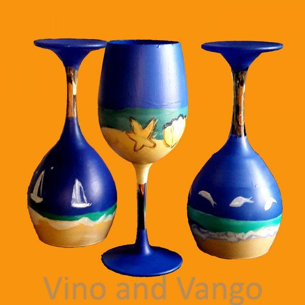 Decorative Wine Glasses pumpkin +watermark